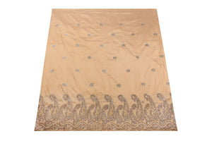 Hand Stoned George Wrapper Design # 6688 - Champagne Gold - With Contrast Blouse