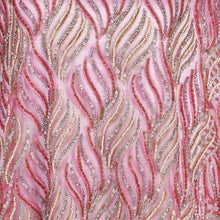 Load image into Gallery viewer, Hand Embroidered Fabric Design # 4114 - Baby Pink - Per Yard