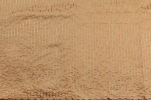 Machine Embroidered George Wrapper Design # 7448 - Champagne Gold - With Blouse