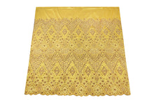 Load image into Gallery viewer, Hand Stoned George Wrapper Design # 6722 - Yellow - With Blouse