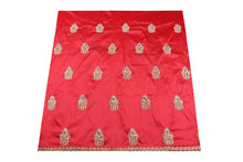 Load image into Gallery viewer, Hand Stoned George Wrapper Design # 6652 - Coral - With Blouse