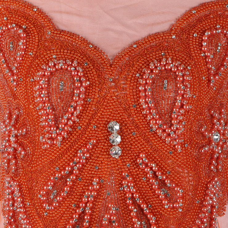 Bespoke Blouse Design # 3015 - Dark Orange - 1.75 Yards