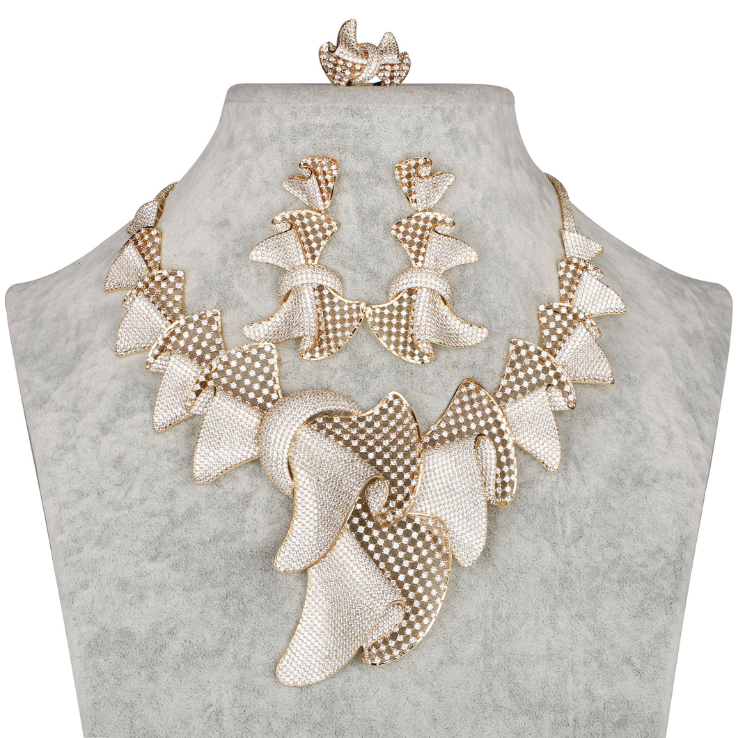 Tafuta Complete Necklace Set Design # 8077