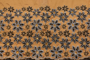 Hand Stoned George Wrapper Design # 6732 - Champagne Gold - With Blouse