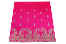 Load image into Gallery viewer, Hand Stoned George Wrapper Design # 6714 - Fuchsia Pink - With Blouse