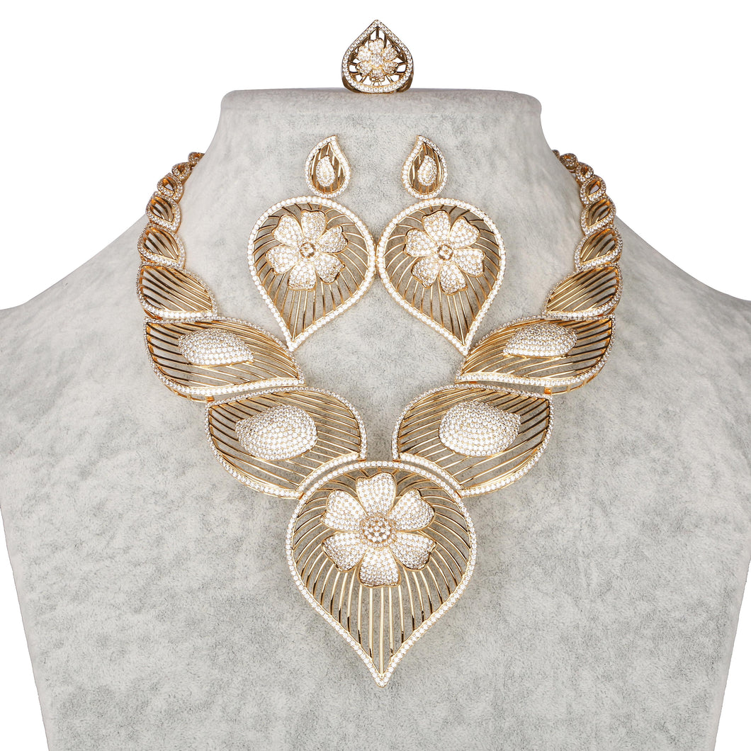 Asili Complete Necklace Set Design # 8075