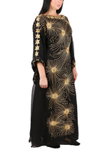 Load image into Gallery viewer, Kaftan Design # 7201 - Black - Free Size