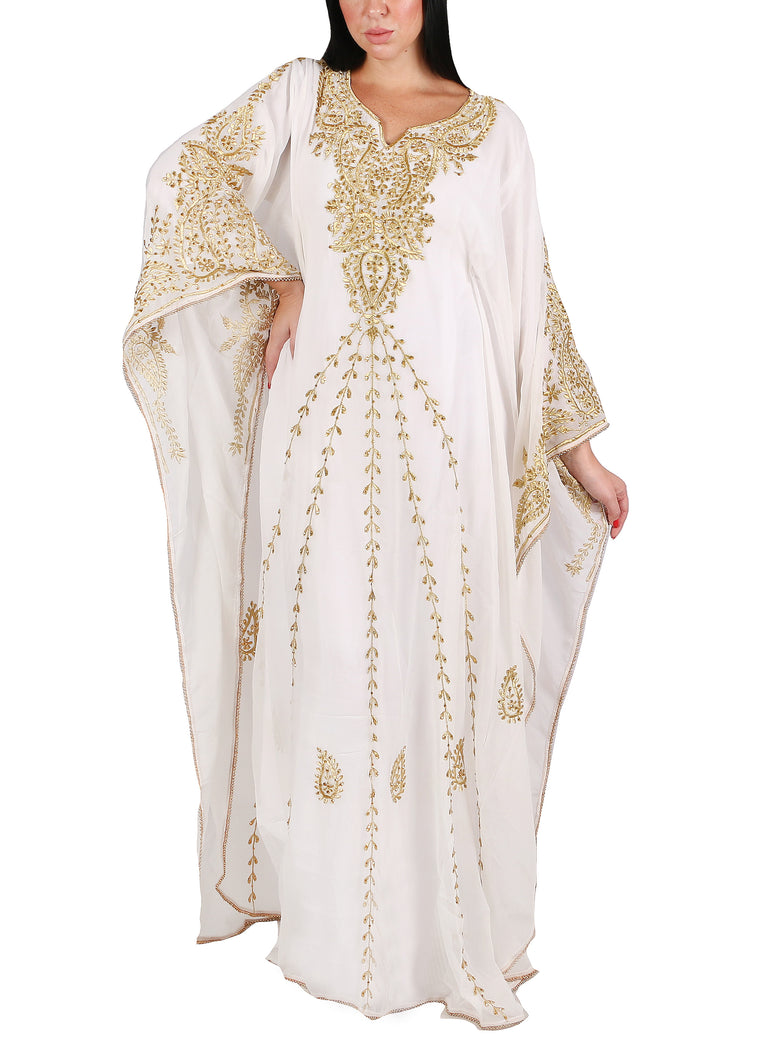 Kaftan Design # 7206 - Cream - Free Size