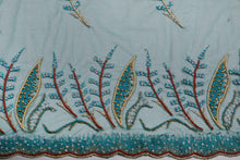 Load image into Gallery viewer, Hand Embroidered Blouse Design # 3263 - Aqua Green - 1.7 Yards