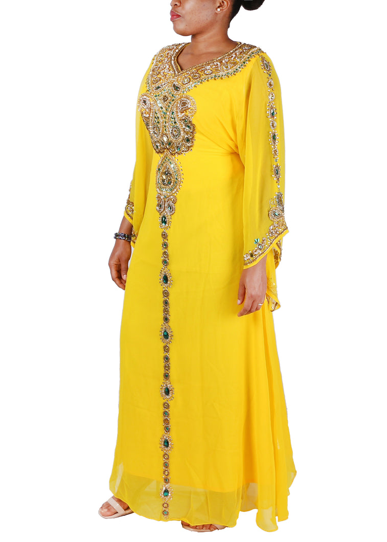 Kaftan Design # 7075 - Yellow