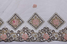Load image into Gallery viewer, Hand Embroidered Blouse Design # 3207 - Cream - 1.7 Yards