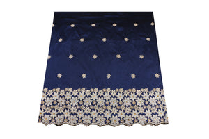 Hand Stoned George Wrapper Design # 6732 - Navy Blue - With Blouse