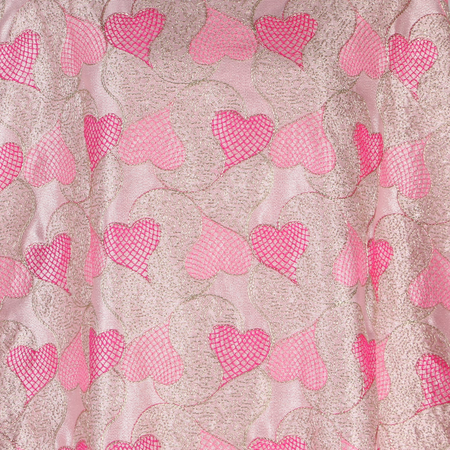 Machine Embroidered Fabric Design # 4125 -Baby Pink - 5 Yard Piece