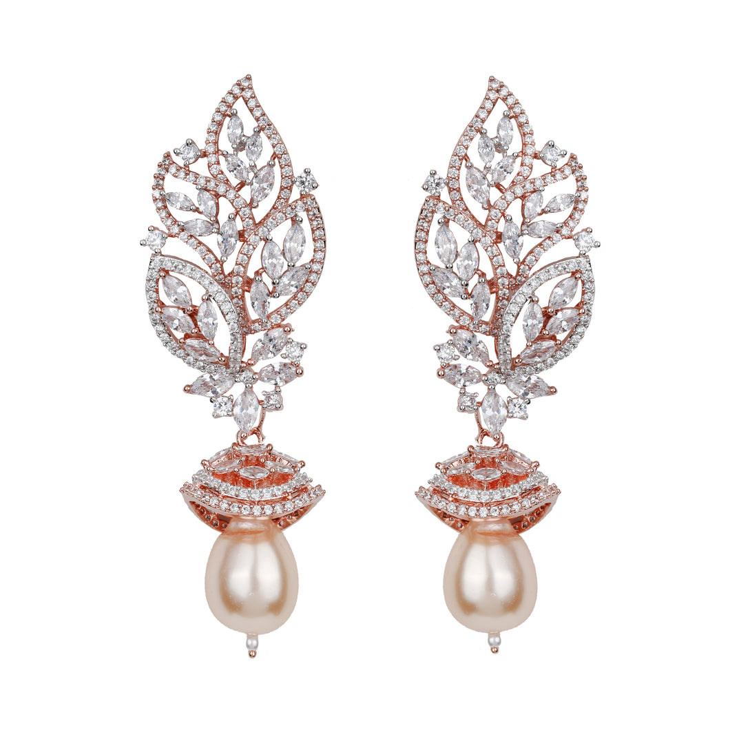 Traditional Pearl Themed Earrings - Design # 7046