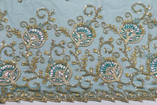 Load image into Gallery viewer, Hand Embroidered Blouse Design # 3186 - Pure Green - 1.7 Yards