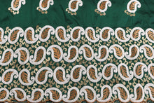 Load image into Gallery viewer, Machine Embroidered George  Wrapper Design # 7433 - Bottle Green - With Blouse