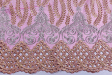 Load image into Gallery viewer, Machine Embroidered George Wrapper Design # 7400 - Baby Pink - With Blouse