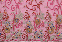 Load image into Gallery viewer, Hand Embroidered Blouse Design # 3282 - Fuchsia Pink - 1.7 Yards