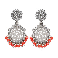 Load image into Gallery viewer, Red Mandal Earrings - Design # 7032