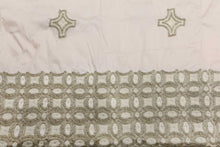 Load image into Gallery viewer, Machine Embroidered George Wrapper Design # 7443 - Cream - With Blouse