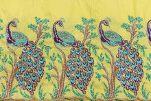 Load image into Gallery viewer, Hand Stoned George Wrapper Design # 6705 - Yellow - With Blouse