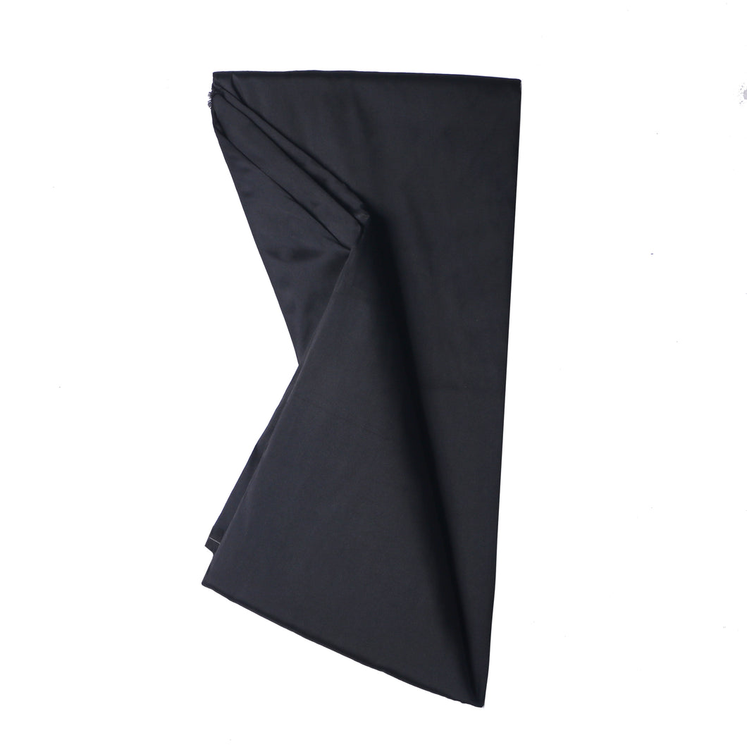 Plain Silk Taffeta - Black - 5 Yard Piece