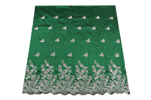 Hand Stoned George Wrapper Design # 6682 - Pure Green - With Blouse