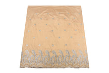 Load image into Gallery viewer, Hand Stoned George Wrapper Design # 6740 - Champagne Gold - With Fuchsia Pink Blouse