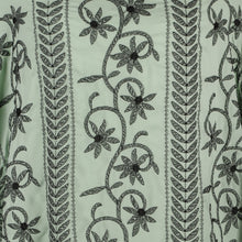 Load image into Gallery viewer, Machine Embroidered Fabric Design # 4124 - Mint Green - 5 Yard Piece