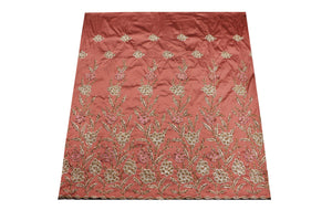 Hand Stoned George Wrapper Design # 6728 - Dusty Pink - With Blouse