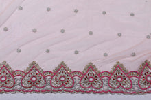 Load image into Gallery viewer, Hand Embroidered Blouse Design # 3194 - Peach - 1.7 Yards