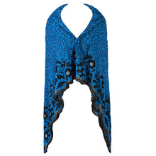 Load image into Gallery viewer, Wrap Around Scarf  Design # 2006 - Turquoise Blue - 5 Yard Piece