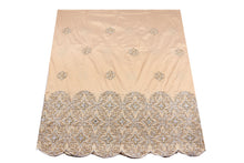Load image into Gallery viewer, Hand Stoned George Wrapper Design # 6681 - Champagne Gold - With Blouse