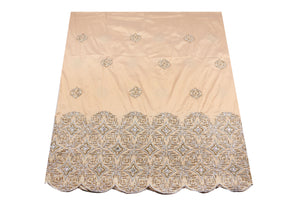 Hand Stoned George Wrapper Design # 6681 - Champagne Gold - With Blouse
