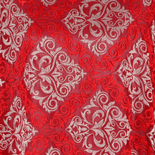 Load image into Gallery viewer, Machine Embroidered Fabric Design # 4126 -Maroon - 5 Yard Piece