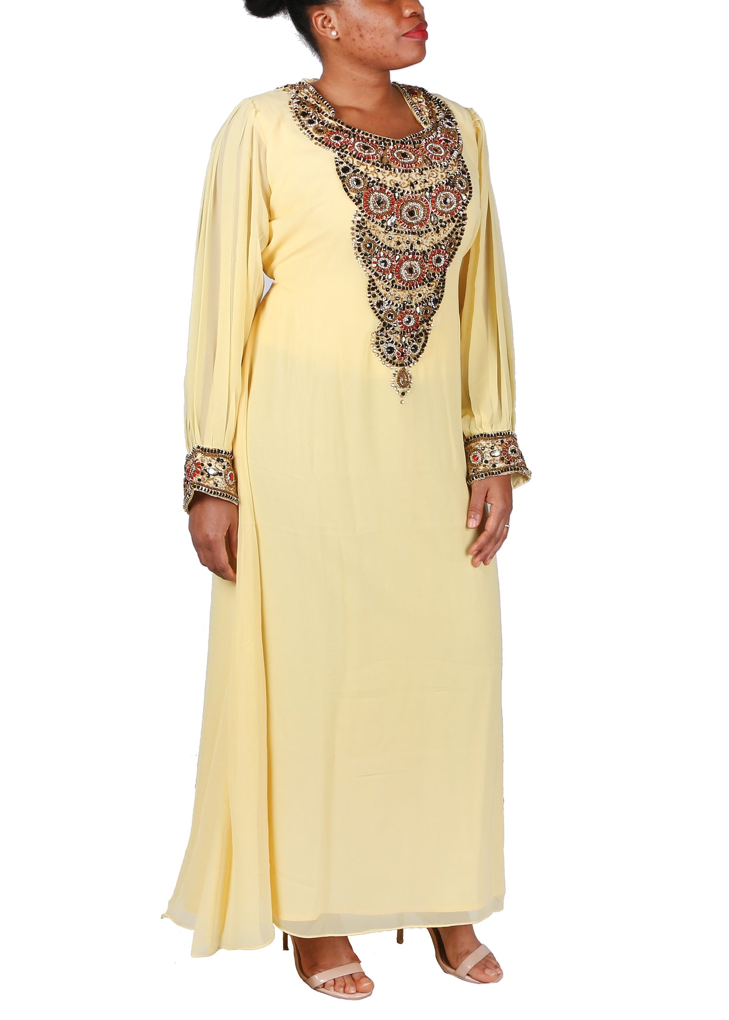 Kaftan Design # 7074 - Yellow
