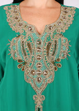 Load image into Gallery viewer, Kaftan Design # 7179 - Pure Green - Free Size