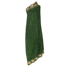 Load image into Gallery viewer, Wrap Around Scarf  Design # 2004 - Bottle Green - 5 Yard Piece
