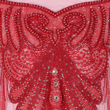 Load image into Gallery viewer, Bespoke Blouse Design # 3014 - Red - 1.75 Yards