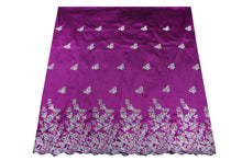 Load image into Gallery viewer, Hand Stoned George Wrapper Design # 6682 - Magenta - With Blouse