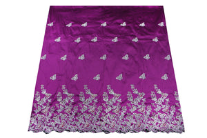 Hand Stoned George Wrapper Design # 6682 - Magenta - With Blouse