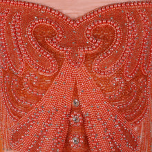 Load image into Gallery viewer, Bespoke Blouse Design # 3014 - Dark Orange - 1.75 Yards