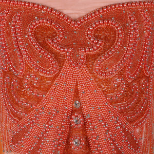 Bespoke Blouse Design # 3014 - Dark Orange - 1.75 Yards