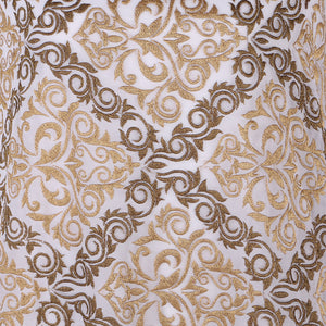 Machine Embroidered Fabric Design # 4126 -Pure White  - 5 Yard Piece