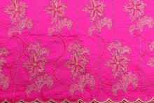 Load image into Gallery viewer, Hand Stoned George Wrapper Design # 6661 - Fuchsia Pink - With Blouse