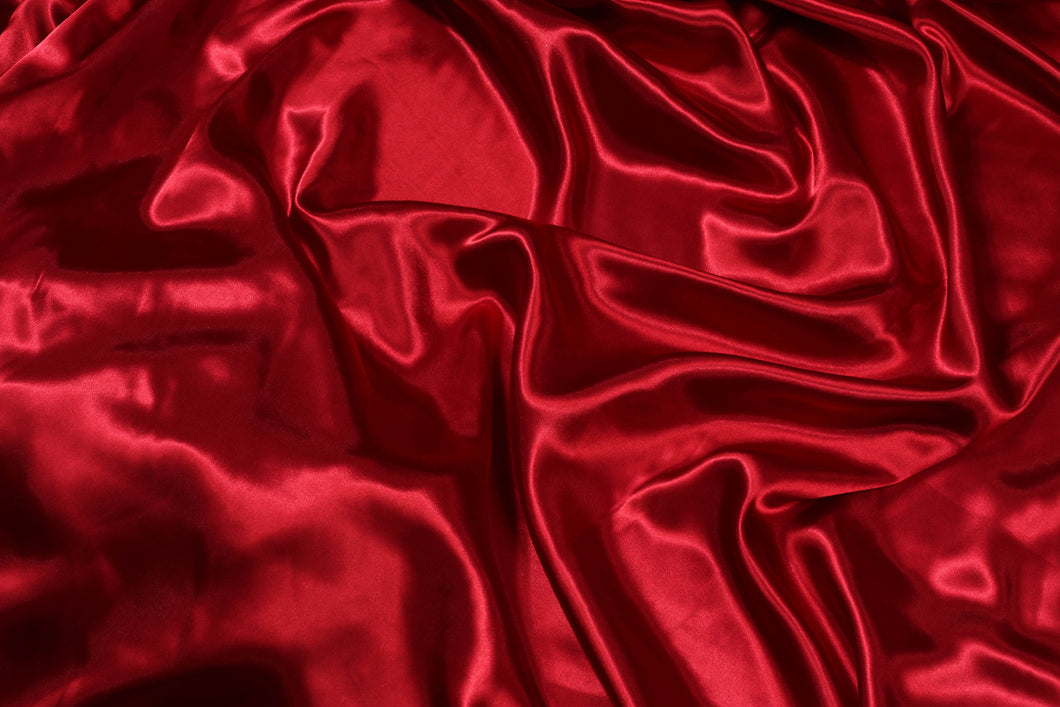 Plain Silk Satin - Maroon - 5 Yard Piece