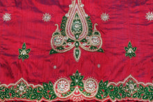 Load image into Gallery viewer, Hand Embroidered George Wrapper Design # 9650 - Magenta - With Blouse