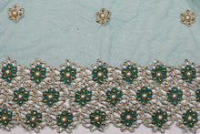 Load image into Gallery viewer, Hand Embroidered Blouse Design # 3185 - Pure Green - 1.7 Yards