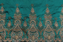 Load image into Gallery viewer, Hand Stoned George Wrapper Design # 6670 - Teal Green - With Blouse