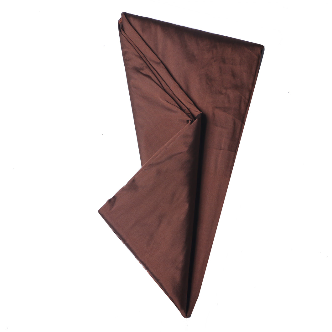 Plain Silk Taffeta - Coffee Brown - 5 Yard Piece